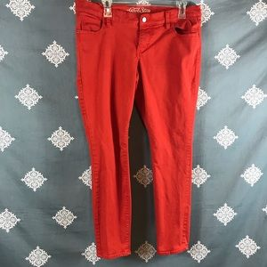 Red Old Navy The Rockstar Skinny Jeans